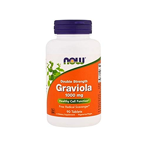 NOW Supplements, Graviola, Double Strength 1000 mg, 90 Tablets