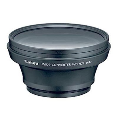Canon 1724B001 WD-H72 Wide Converter Lens for Compatible Canon Camcorders by Canon