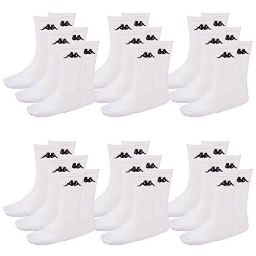 Kappa - Calcetines de deporte - Opaco - para hombre blanco Blanco (001 White): Amazon.es: Ropa y accesorios