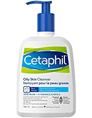 Cetaphil Oily Skin Cleanser 500ml - Foaming Facial Wash - For Oily, Combination, Acne-Prone and Sensitive Skin - Dermatologist Recommended