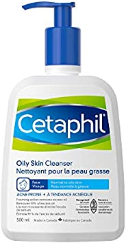 Cetaphil Oily Skin Cleanser 500ml - Foaming Facial Wash - For Oily, Combination, Acne-Prone and Sensitive Skin
