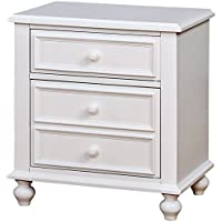 Furniture of America CM7155WH-N Olivia White Night Stand Nightstands