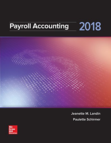 GEN COMBO LOOSELEAF PAYROLL ACCOUNTING 2018; CONNECT ACCESS CARD