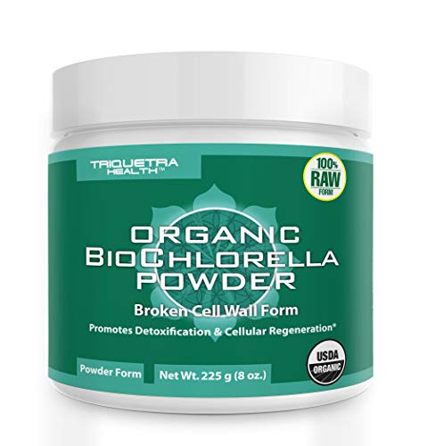 Organic Chlorella Powder - 4 Organic Certifications, Raw Form & Sun Grown | Guaranteed Best Source of Chlorella, Maximum Nutrient & CGF Levels (Chlorella Growth Factor) - 75 Servings