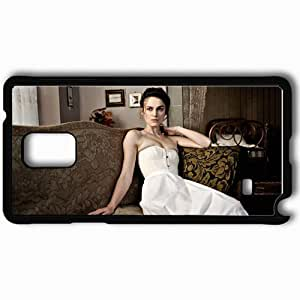 Personalized Samsung Note 4 Cell phone Case/Cover Skin A dangerous method keira knightley sabina spielrein actress sofa Movies Black