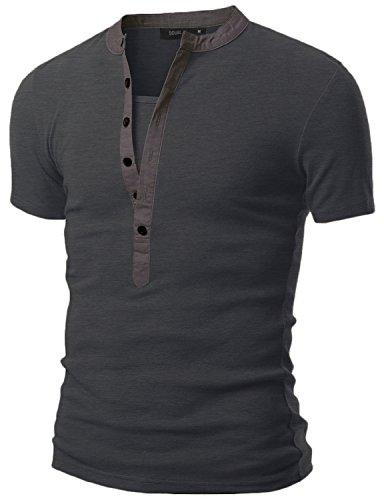 Doublju Mens Henley T shirts Sleeve product image