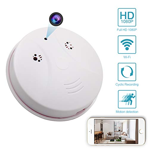 (MINGYY Hidden Wifi Camera HD 1080P Webcam Round Remote View Camera DVR Cameras Video Baby Monitor Nanny Cam Motion Detector Camera Home Surveillance Camera Wireless)