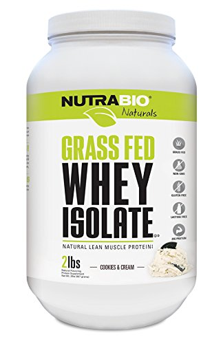 Nutrabio Grass-Fed Whey Protein Isolate 2lbs Cookies and Cream