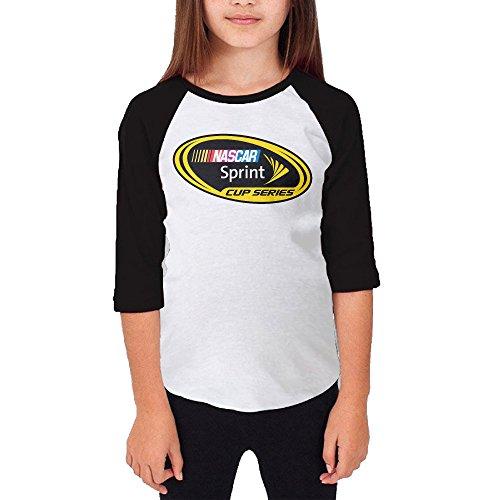 [MJJY Youth Girls Nascar Raglan 3/4 Sleeve T-Shirt Black Size M] (Nascar Tony Stewart Costumes)