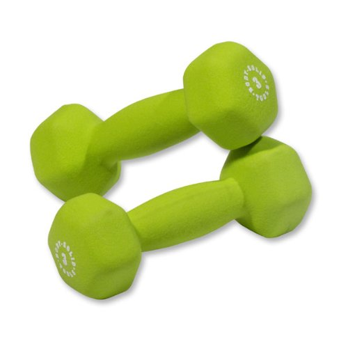 Pair of 3lb. Neoprene Dumbbells - Green by Body-Solid