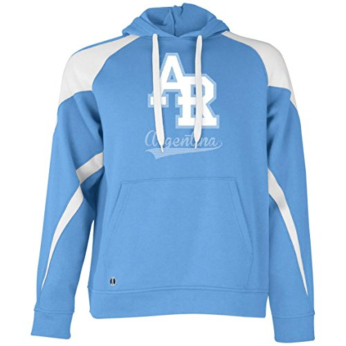 World Cup Russian Dolls Argentina Team Holloway Colorblock - Mens Cricket Hoodie