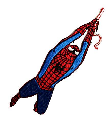 Spiderman Action-figure Comic-figure Superhero Comic Cartoon Patch ''3 x 12,2 cm'' - Embroidered Iron On Patches Sew On Patches Embroidery Applikations Applique