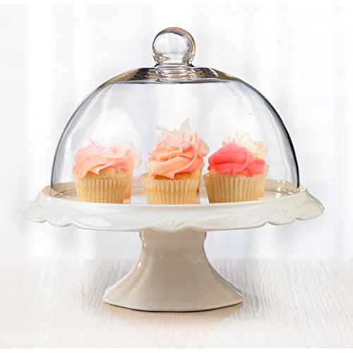 Brilliant - Bianco Pedestal Cake Plate and Dome 25cm ()
