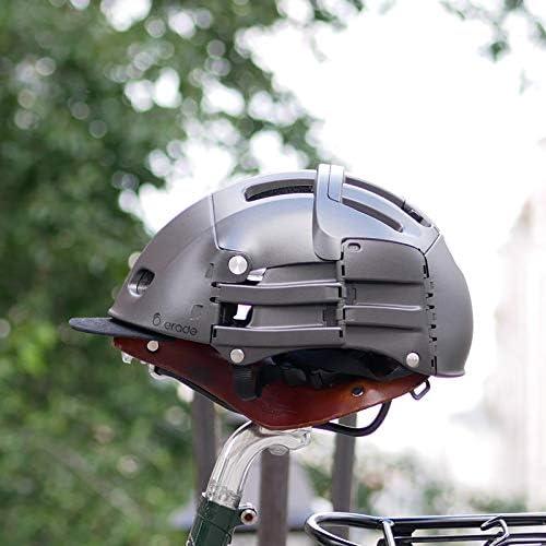 Casque Pliable Plixi Fit pour vélo, Trottinette électrique, Overboard, gyroroue, Skateboard, Roller, VAE - Norme CE EN1078, même Protection Qu'Un Casque Classique - Volume divisé par 3