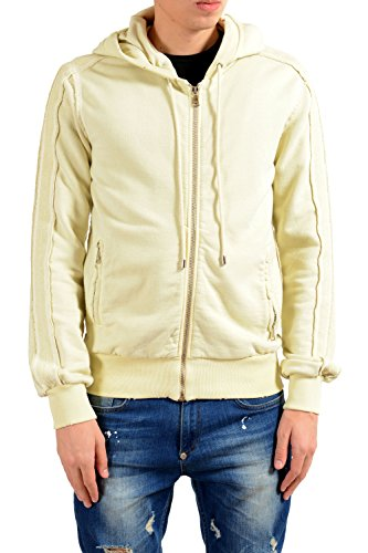 Dolce & Gabbana White Men's Full Zip Hoodie US S IT 48