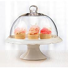 Brilliant - Bianco Pedestal Cake Plate and Dome 25cm