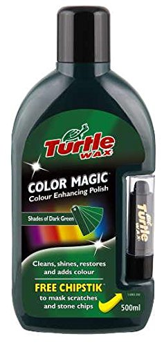 Turtle Wax FG6903 Dark Green Color Magic Plus Colored Car Polish Cleans Shines Restores Scratches Includes Chipstick 500 Milliliter Discontinued by - Way A To A Best Remove Scratch From Car