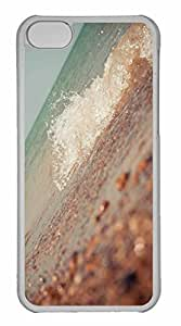 iPhone 5C Case, Personalized Custom Wave 5 for iPhone 5C PC Clear Case