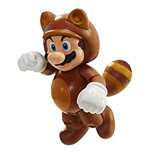 "World of Nintendo 91436 4"" Tanooki Mario with Coin Action Figure"
