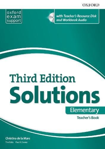 Solutions 3rd Edition Elementary. Teacher's Book (Solutions Third Edition) (Inglés) Tapa blanda – 8 mar 2018 Christina de la Mare Tim Falla Paul A. Davies S.A.