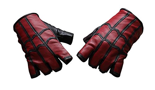 Spiderman Gloves (Miracle(Tm) Spider-Man: Homecoming 2017 Costume Gloves - Spiderman Gloves Real Leather (Medium))