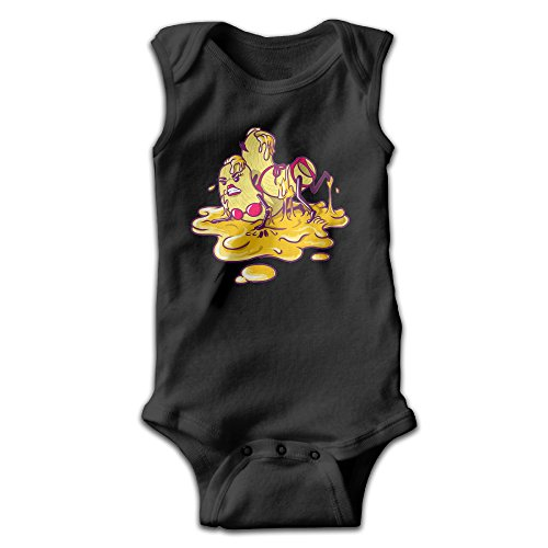 [BLUESPACE Hot Macs Wrestling In Cheese Newborn Baby Climb Romper 24 Months Black] (Royale With Cheese Costume)