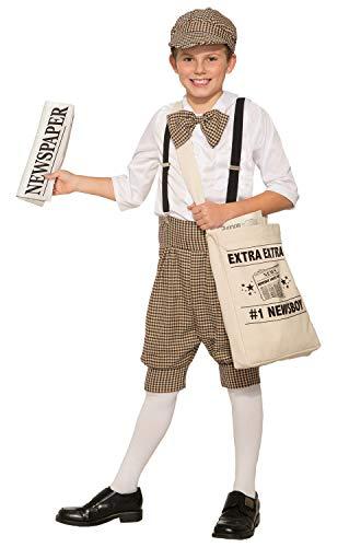 Gatsby 1920's Newsboy Newsie Boys Child Costume Newspaper Carrier Size 2-7 -