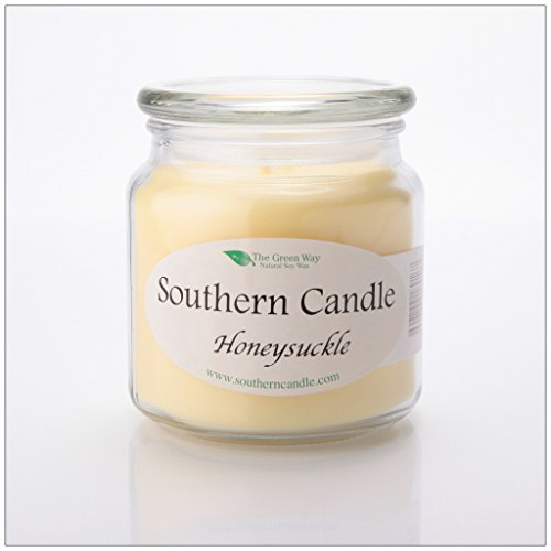 Honeysuckle 16 oz Decorator Jar Natural Soy Wax Candle