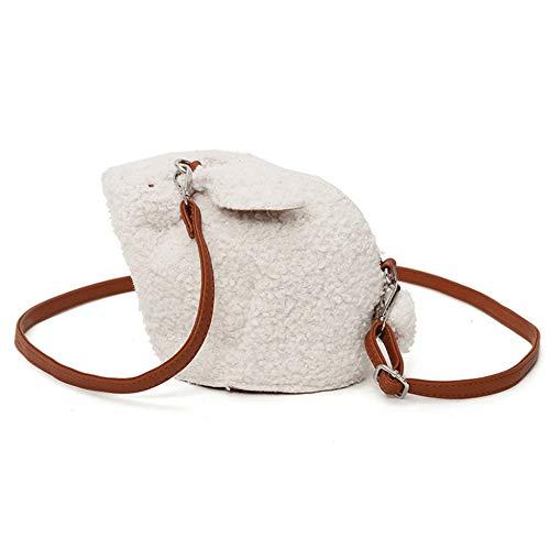 bianco elefante portafoglio tracolla portafoglio borsa in carino da coniglio viaggio monete donna a colore borsa cellulare zaino Houyazhan peluche Iwqa1fTq