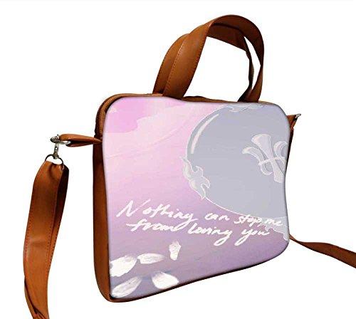 Snoogg No Stopping Love 35,6cm Zoll auf 36,8cm Zoll auf 37,1cm Zoll Kunstleder Laptop Notebook Schuber Sleeve, der Fall mit und Schultergurt für MacBook Pro Acer Asus Dell HP Sony Toshiba