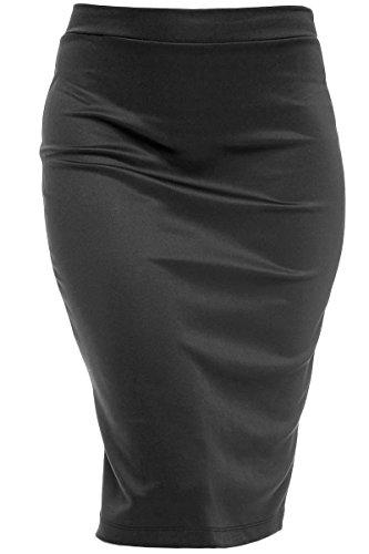 plus size pencil skirt with split - 4