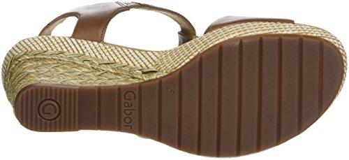 Gabor Comfort Sport, Sandali con Cinturino Alla Caviglia Donna Marrone (Peanut Bast/Lds)