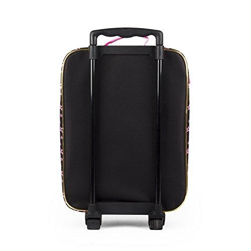 1272a9cf90c4 Girls Nickelodeon JoJo Siwa Black and Pink Stars Pilot Case Luggage