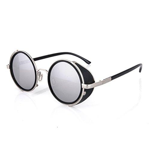 4sold Steampunk Sunglasses M/l Number 8 Mat Black Gold Diameter 5cm (Model number - Brand 1 Sunglasses Number