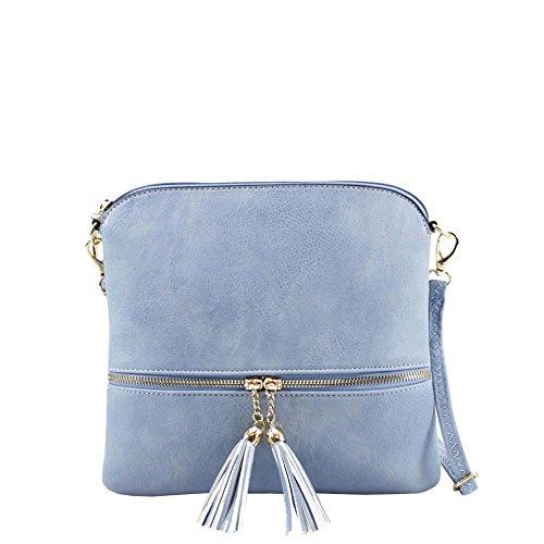 Sac à Hautefordiva bleu clair porter pour clair bleu l'épaule moyen femme à XBdqRdwnWr