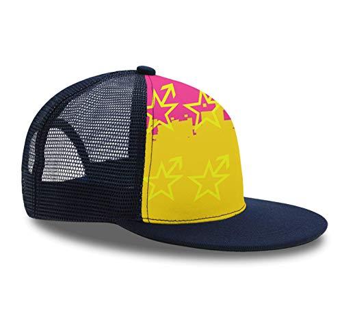 Plaid Pride Cap - Hip Hop Cap,Pansexual Star LGBT Pride, Snapback Hat Unisex Trucker Hat Plaid Flat Bill Brim Adjustable Baseball Cap