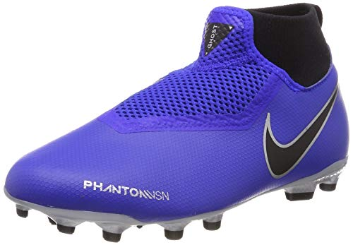 Nike Youth Soccer Jr. Phantom Vision Academy Dynamic Fit MG Cleats (5.5 M US Big Kid) Blue