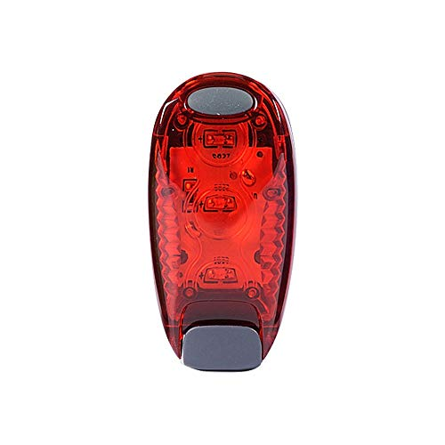 Glumes Rear Bike Light Ultra Bright Powerful Safety Taillight High Intensity Rear LED Accessories  Multifunctional Outdoor Riding Bicycle Warning Light 2 Light Mode Options Waterproof for all Bikes/Helmets (red)