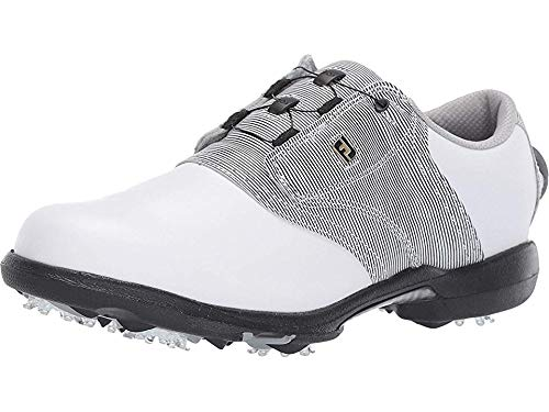 FootJoy Women's DryJoys Boa Golf Shoes White 6.5 M Black Print, US by FootJoy