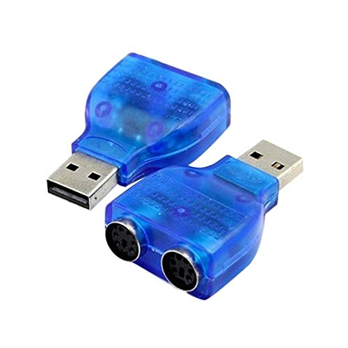 (Connectors - 1pcs Slim Usb 2.0 To Ps 2 Adapter Dongle Use Your Keyboard Mouse On A Port Computer - Single Cat5e/6 File Rj45 Panel 10/100 64gb Mouse Backup 32gb Reader Link Sharing Internal Gra)