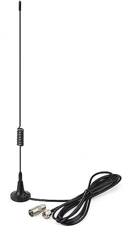 Bingfu FM Antena 75ohm F Adaptador Base Magnética Antena de Radio con 2 m 6.56ft F Cable de Extensión 2 Kit para Yamaha JVC Sony Bose Home Radio ...