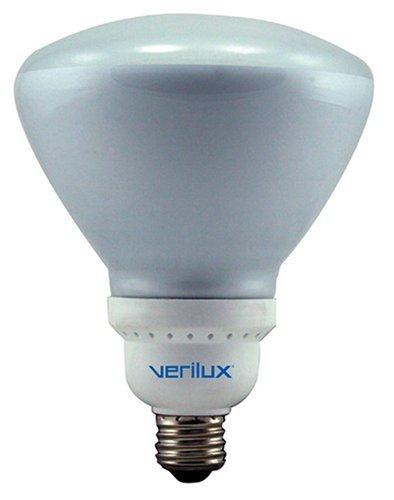 Verilux 23 Watt Natural Spectrum Compact Fluorescent R40 Flood Bulb, Single Pack
