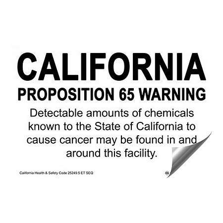5-Pack 27x18 CGSignLab California Proposition 65 Warning Sign Heavy-Duty Industrial Self-Adhesive Aluminum Wall Decal