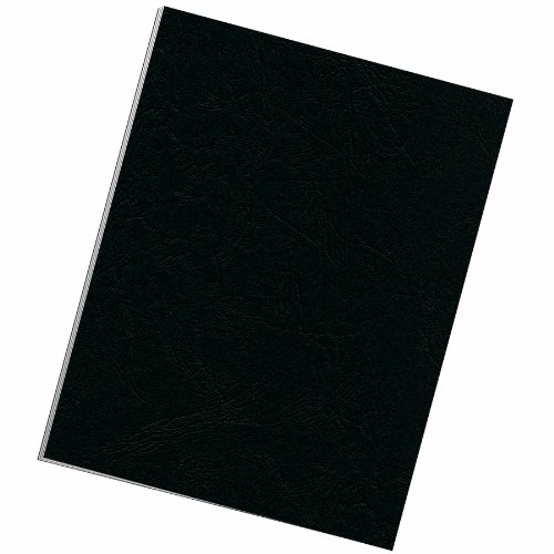 Fellowes Binding Grain Presentation Covers, Letter, Black, 25 Pack (5217501)