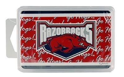 NCAA Arkansas Razorbacks Crystal Box Playing Cards