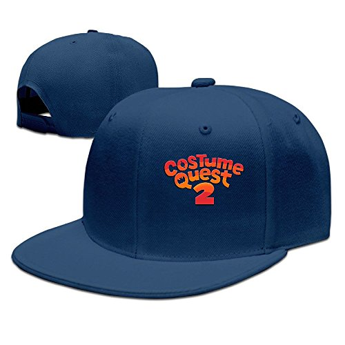 Costume Quest 2 Logo Unisex 100% Cotton Navy Adjustable Snapback Trucker Hats One Size