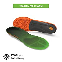 Superfeet Trailblazer Comfort Insoles for Carbon Fiber Orthotic Support and Cushion in Hiking Boots and Trail Shoes
