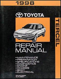 1998 toyota tercel repair shop manual original toyota amazon com rh amazon com 1998 toyota tercel service manual 1988 Toyota Tercel