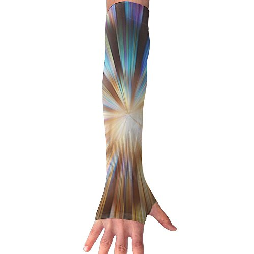 HBSUN FL Unisex Abstract Colorful Spiral Vortex Anti-UV Cuff Sunscreen Glove Outdoor Sport Riding Bicycles Half Refers Arm Sleeves by HBSUN FL