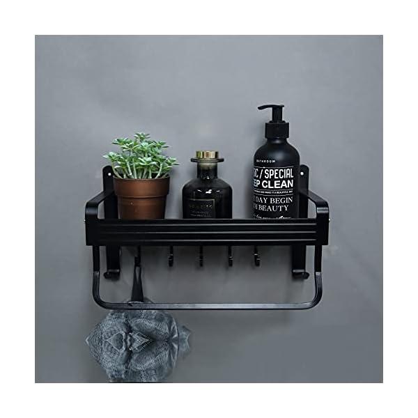 Geahod Duschregal ohne Bohren, Selbstklebende Duschablage Rostfrei, Dusche Badregal für Badezimmer, Nagelfrei Duschkorb…